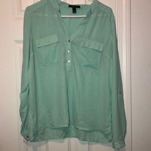 Nwot sea foam green blouse